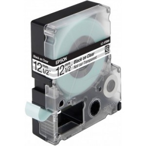 EPSON - LABEL CARTRIDGE - TRANSPARENT LC-4TBN9 BLACK/TRANSPARENT 12MM (9M)