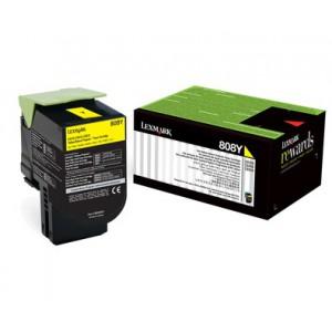 LEXMARK 808Y CS310 / CX410 / CX510 Yellow Return Program Toner Cartridge - 1 000 pgs