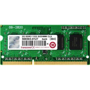 Transcend 2GB DDR3-1333 204-Pin Notebook SO-DIMM