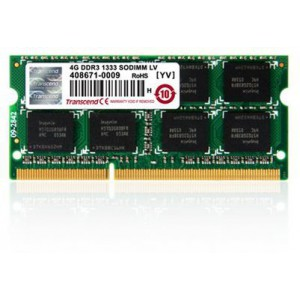 Transcend 8GB DDR3-1600 204-Pin Notebook SO-DIMM : CL11, 1.5V, Top tier name-brand DRAM