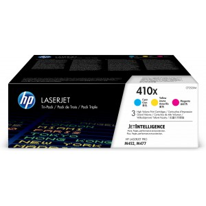 HP # 410X 3-pack High Yield Cyan/Magenta/Yellow Original LaserJet Toner Cartridges (CF252XM)