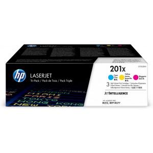 HP # 201X 3-pack High Yield Cyan/Magenta/Yellow Original LaserJet Toner Cartridges (CF253XM)
