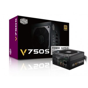 CoolerMaster Vangaurd V750 Series 750W Semi-Modular Power Supply - Active PFC, 80PLUS Gold Certified