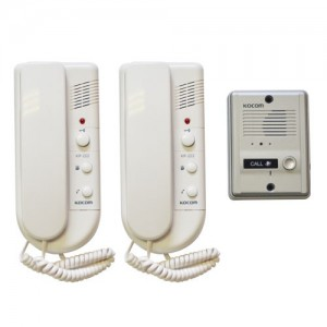 KOCOM 1-2 Audio Intercom Kit 220VAC