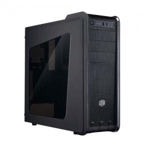 CM 593 DESKTOP CASE BLACK WINDOWED