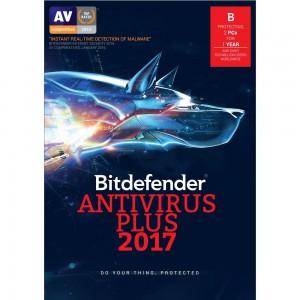 Bitdefender Antivirus Plus 2017 2 User 1 Year License (ESD)