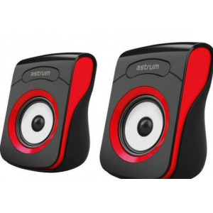 ASTRUM SU100 SPEAKER 2.0CH USB POWER 3.5MM RED