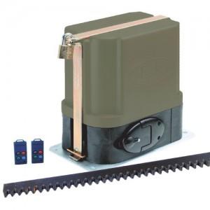ET500 - 12V Gate Motor Kit incl Remotes Receiver Battery & Steel Rack