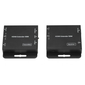 HDMI Extender 50m - Slim with IR transmitter & POE