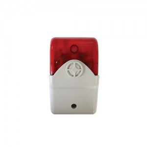 Securi-Prod Alarm Siren Strobe Red 12VDC
