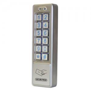 SP RFID Reader & Keypad Metal Slimline Dual Relay 10/1000 User