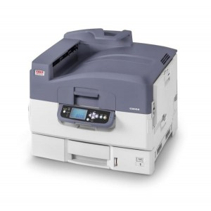 OKI C9655dn - A4: 36 ppm Colour and 40 ppm Mono A3: 19ppm Colour and 21 ppm Mono Print Quality 1200 x 600 dpi with ProQ2400 Technology Languages; PCL 6 PCL 5c Postscript level 3 Direct PDF Printing v1