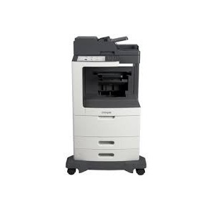 Lexmark MX810DPE Mono A4 4-in-1 Functions: Printing Network Scanning Faxing Copying Colour Scanning Monochrome Laser Lexmark e-Task 25 cm (10-inch) class Colour touch screen - Processor: Dual Core 800