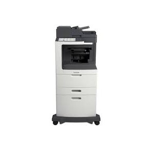 Lexmark MX810DXPE Mono A4 4-in-1 Printer Functions: Printing Network Scanning Faxing Copying Colour Scanning Monochrome Laser Lexmark e-Task 25 cm (10-inch) class Colour touch screen - Processor: Dual