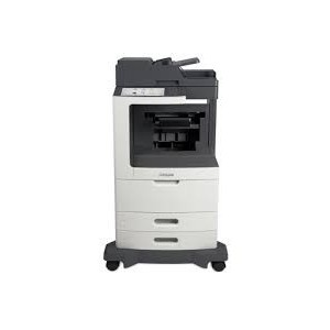 Lexmark MX811DPE Mono A4 4-in-1 Printer Functions: Printing Network Scanning Faxing Copying Colour Scanning Monochrome Laser Lexmark e-Task 25 cm (10-inch) class Colour touch screen - Processor: Dual