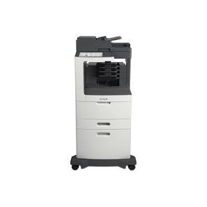 Lexmark MX812DPE Mono A4 4-in-1 Functions: Printing Network Scanning Faxing Copying Colour Scanning Monochrome Laser Lexmark e-Task 25 cm (10-inch) class Colour touch screen - Processor: Dual Core 800