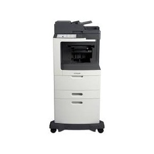 Lexmark MX812DXPE Mono A4 4-in-1 Printer Functions: Printing Network Scanning Faxing Copying Colour Scanning Monochrome Laser Lexmark e-Task 25 cm (10-inch) class Colour touch screen - Processor: Dual