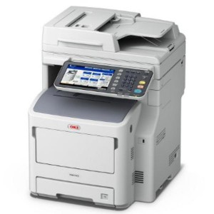 OKI MB760dfn MFP WG Mono Lazer A4 - Print Copy Scan Fax; print speed of 47 ppm black 1200 x 1200 dpi Direct PDF printing 2GB RAM memory Standard 160GB HDD 1.2GHz processor 1 Gigabit Ethernet 1 Hi-Spee