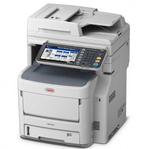 OKI MC760DN MFP - 3-in-1; Print Copy Scan (Optional Fax): Print up to 28 ppm Mono & Colour OKI ProQ 2400 Technology 1200 x 600 dpi 2GB Ram 1.2GHz Processor 100 sheet multi purpose tray 530 sheet input