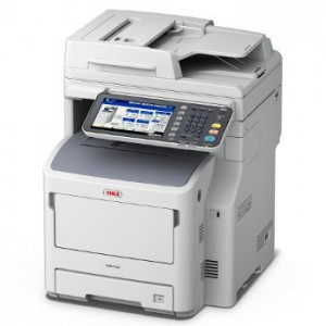 OKI MB770dfn MFP WG Mono Lazer A4 - Print Copy Scan Fax; print speed of 52 ppm black 1200 x 1200 dpi Direct PDF printing 2GB RAM Standard 160GB HDD 1.2GHz processor 1 Gigabit Ethernet 1 Hi-Speed USB 2