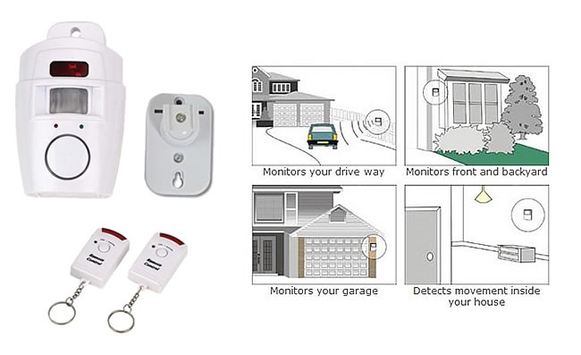 Motion Detector With Remote Alarm Security Sistems