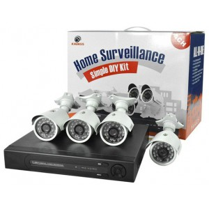 4 Channel DIY Complete CCTV Surveillance Kit (800 TVL)