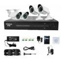 4 Channel DIY Complete CCTV Surveillance Kit (800 TVL)