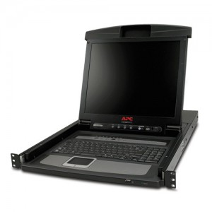 17 Rack LCD Console with Integrated 8 Port Analog KVM Switch