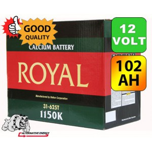 Royal Delkor 1150K 102AH Deep Cycle Battery - 12 Volt