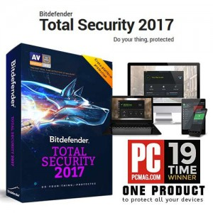 Bitdefender BDESD-TS5 Total Security Multi-Device 2017 5 Devices 1 Year License (ESD)