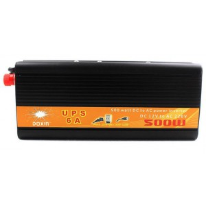500W DC to AC Power UPS Inverter - Built-In 6A Charger