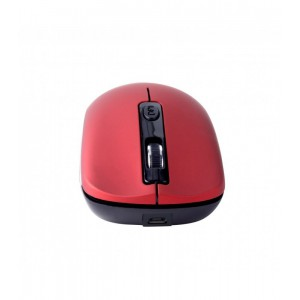 MW270 MOUSE WIRELESS 2.4GHZ RECHARGE RED