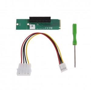 M2 (M.2) SSD to PCI-e 4x Slot Riser Adapter Card Converter (BTC Mining) NGFF