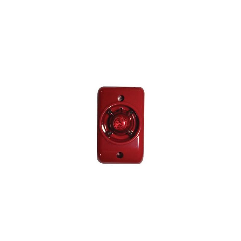 Securi-Prod Siren Strobe Red 12VDC