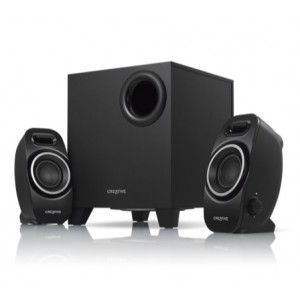 Creative SBS-A250 speakers 2.1 Black Watts RMS ( 2W SAT + 5W SUB )