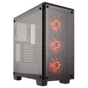 CORSAIR CRYSTAL SERIES 460X RGB CASE BLACK TEMPERED WINDOW