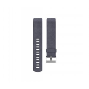 Fitbit Charge 2 Leather Band - Adjustable Replacement Strap - Indigo, Large