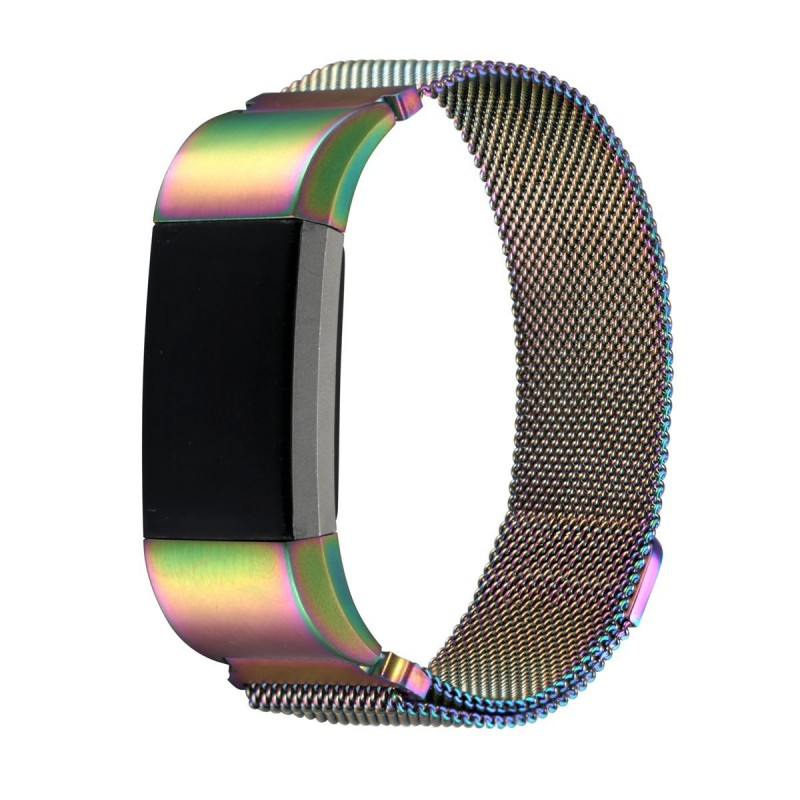 Fitbit Charge 2 Stainless Steel Band - Adjustable Replacement Strap with  Magnetic Lock - Pearlescent Small - GeeWiz