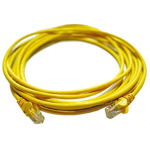 5M UTP Cat5e Flylead Yellow