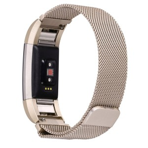Fitbit Charge 2 Stainless Steel Band - Adjustable Replacement Strap - Champagne Gold
