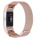 Fitbit Charge 2 Stainless Steel Band - Adjustable Replacement Strap with Magnetic Lock - Rose Gold