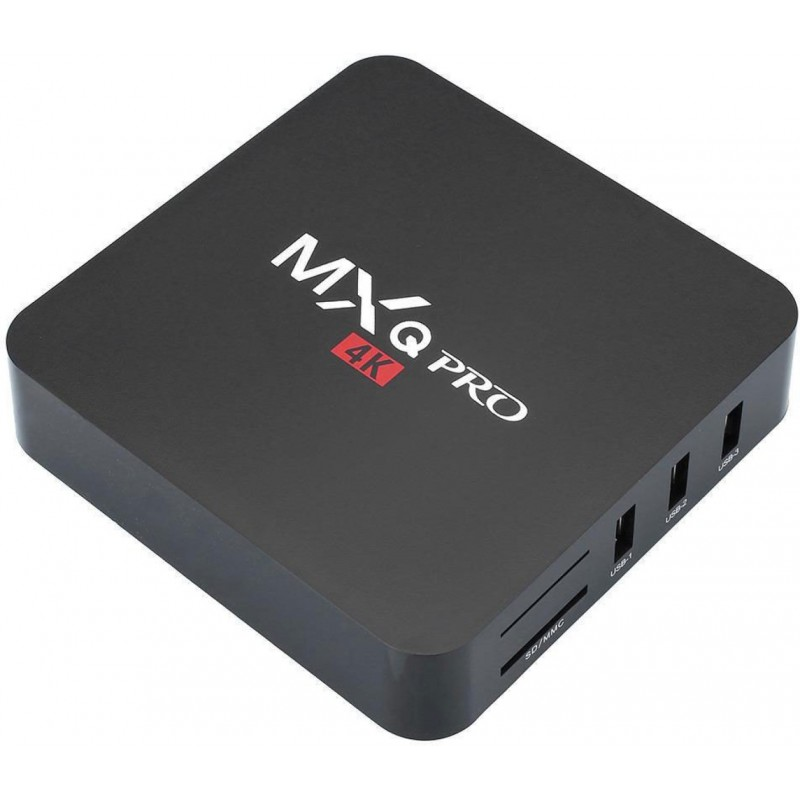 MXQ Pro 4K Smart TV Box - Android Media Player Streamer - 4 X USB, Remote  Control - GeeWiz