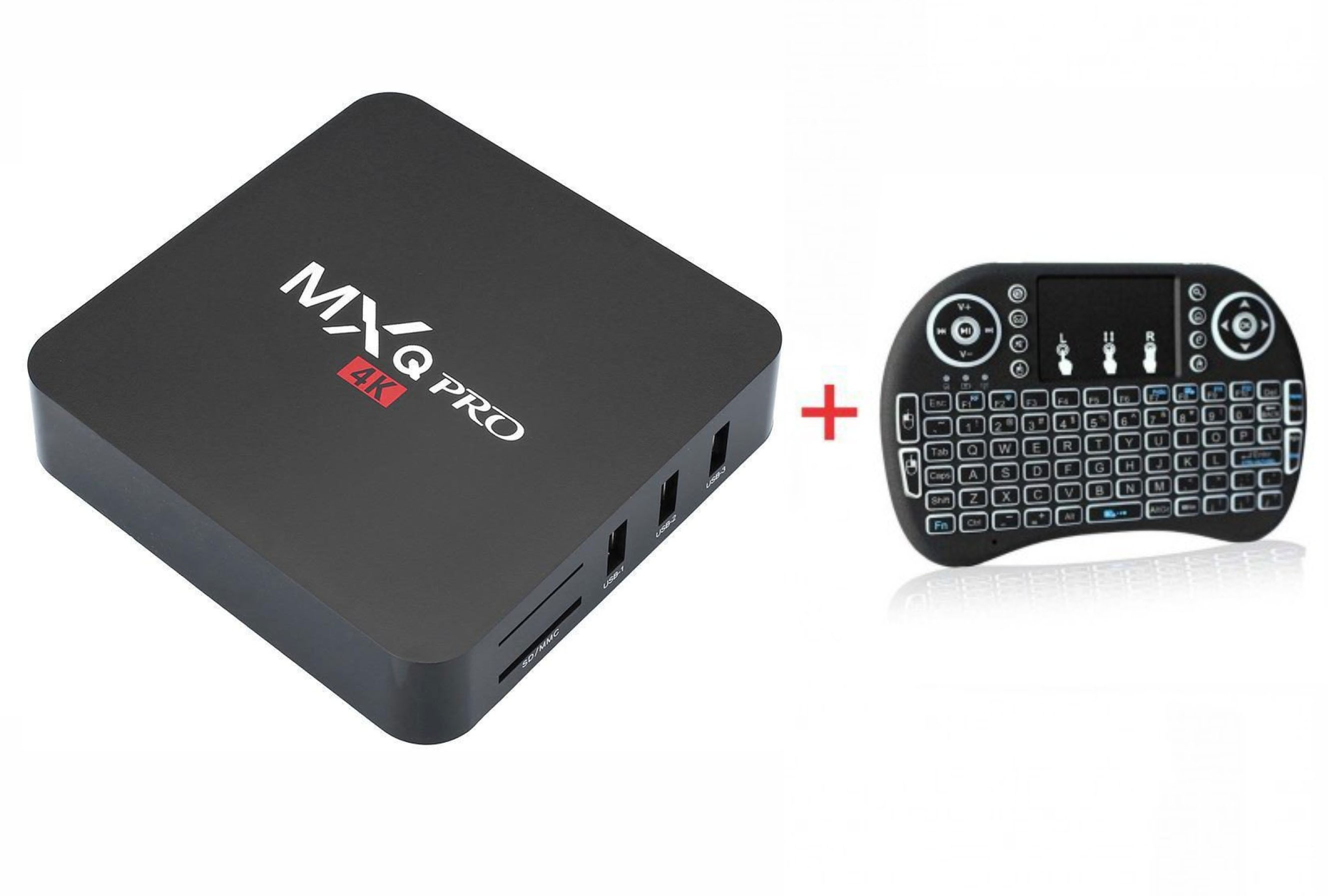 mini hifi radios mxq pro 4k smart tv box i8 backlit. Black Bedroom Furniture Sets. Home Design Ideas