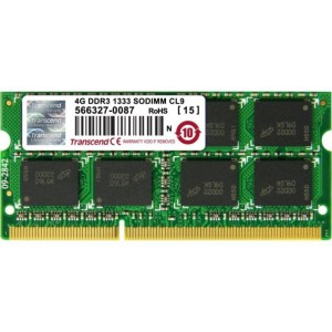 Transcend 4GB DDR3-1333 Notebook SO-DIMM CL9 512Mx8