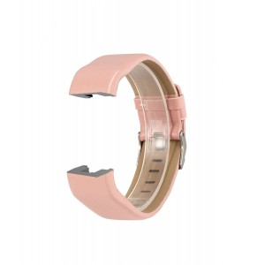 Fitbit Charge 2 Leather Band - Adjustable Replacement Strap - Light Pink, Small