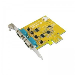 Sunix ser6437PHL 2-port RS-232 High Speed PCI Express Low Profile Board with Power Output