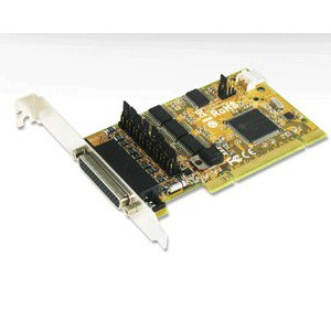 Sunix CDK1056P 4-port RS-232 with Power Output & Cash Drawer interface & DC Jack Low Profile Universal PCI Board