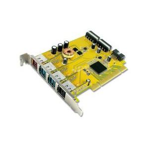 PUB1210P 1-port 24V & 2-port 12V & 1-port 5V Powered USB PCI Add-On Card
