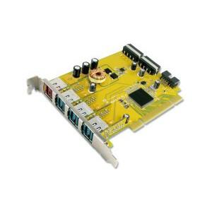 PUB1300P 1-port 24V & 3-port 12V Powered USB PCI Add-On Card