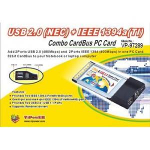VIPOWER VP-97289 (USB 2.0 + IEEE1394a Combo CardBus PC Card)
